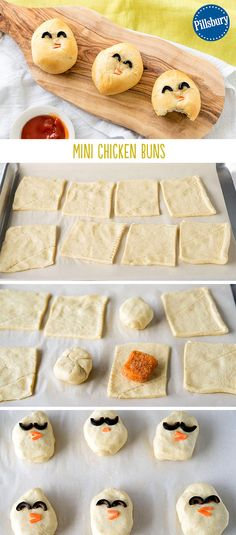 Mini Chicken Buns are a cute Easter snack! Dress up your chicken nuggets for Easter with this fun and easy take on dinner for your picky kids.