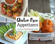 These 16 Easy Gluten Free Appetizers and Snacks are the perfect solution to feed your family or feed a crowd. We suggest you make these bite-sized treats as soon as possible because theyll soon become your go-to recipes. Gluten Free Potluck, Gluten Free Party Food, Gluten Free Appetizers, Healthy Gluten Free Recipes, Pureed Food Recipes, Foods With Gluten, Appetizer Recipes, Cooking Recipes, Party Appetizers