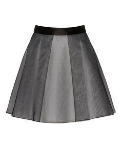 Black Silk Organza Skirt