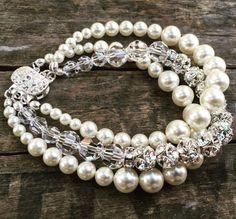 The Jennifer Pearl and crystal Bracelet