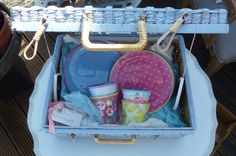 A new colour and some colourful cups and plates make #picnics a joy once again! #picnicbasket #picnic #summer