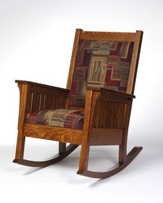 Mission Rocker | 1200 in Oak | Shown With Fabric