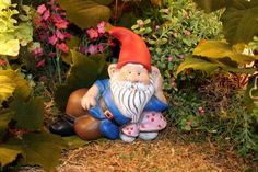 Garden Gnome Statue Resting on a Mushroom Custom by PhenomeGNOME