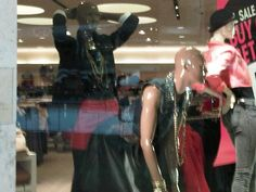 Yes, this happened in the window of Forever 21.