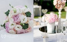 Blush pink and succulent wedding bouquet