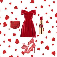 red look by me - polyvore