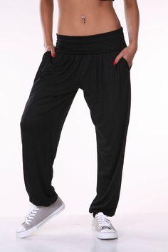 White Mark Women's Black Harem Pants #WhiteMark #PantsTightsLeggings @WhiteMark