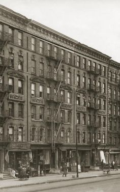 A view of a street in Harlem New York City circa 1925