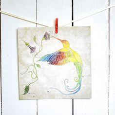 Postkarte - Kolibri
