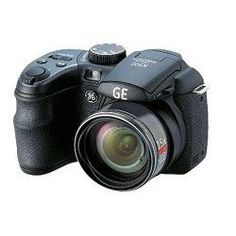 """GE X500 Power Pro Series Bridge Camera with Electronic View Finder, Optical Image Stabilization, 16MP, 15X Optical Zoom, 2.7""""LCD, 27mm Wide Angle Lens and advanced features including Shutter & Aperture Priority mode, Program mode, ASCN, Pan-Capture Panorama, Smile & Blink Detection, Face Detection, Face Auto Exposure, Red-Eye Removal, High Dynamic Range. Power by AA Battery.What's in the box: Gene"""