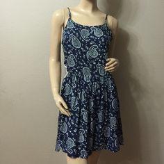 Navy Blue Open Sides Summer Dress Very cute open sides dress, with back zipper. 100% rayon. Wyld E Hart Dresses Mini