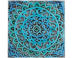 Decorative Tiles For Wall Mandala Art  Meditation Art  Spiritual Gift  Yoga Art