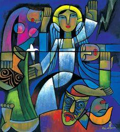 he qi art | Easter Morning (B), by He Qi