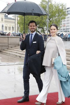 Realmyroyalsl:  80th Birthday Celebrations, Day 2, May 10, 2017-Prince Carl Philip and Princess Sofia