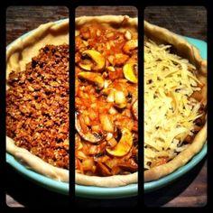 Vegetarian Taco Pie, I think I love you.  #vegetarian #recipe