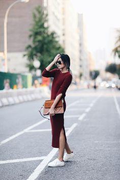 +  = | 17 Chicas que te inspirarán a llevar tus vestidos con tenis