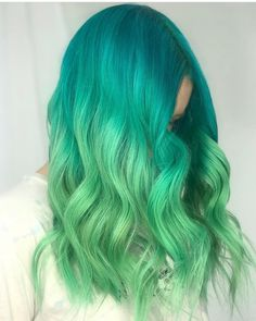 Green Wigs Lace Frontal Black Wigs That Look Real Short Cut Wigs Af Si – masicoco Pulp Riot Hair Color, Vivid Hair Color, Hair Dye Colors, Cool Hair Color, Purple Hair, Ombre Hair, Wavy Hair, Pelo Color Azul, Short Cut Wigs