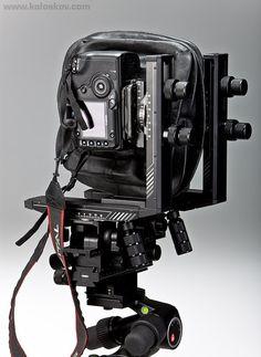 大/中判レンズマウントと35ミリメートルカメラのチルト/シフトカメラシステム