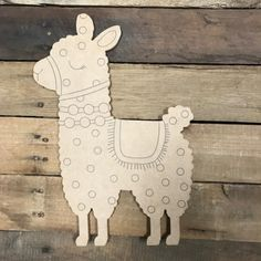 Alpaca, Paint by Line, Unfinished Wood Shape art crafts ideas materials projects Picture Letters, Wooden Picture Frames, Wooden Cutouts, Wooden Shapes, Woodworking Jigs, Woodworking Projects, Woodworking Classes, Woodworking Machinery, Popular Woodworking