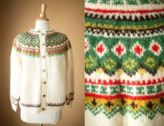 Tag: Husfliden, Larvik. Hand knitted in Norway. 100% wool.