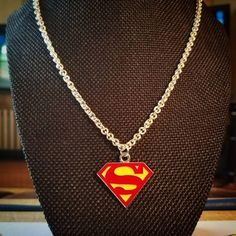 Superman Handmade Necklace