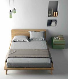 Lit double / contemporain / avec tête de lit / en chêne EASY Dall'Agnese Industria Mobili