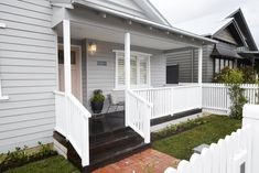 The Block series 13 front facade and garden reveals - The Interiors Addict Bungalow Exterior, House Paint Exterior, Building Exterior, Exterior House Colors, Building A House, Facade Design, Exterior Design, House Design, Cottage Design