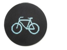 Bicycle modern cross stitch pattern by wallwork on Etsy, $4.50