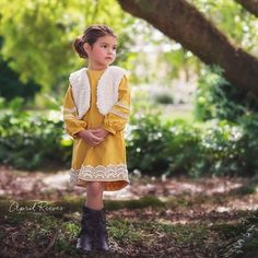 Cricket Dress-Fall, Vest, Mustard, Lace, Dress,