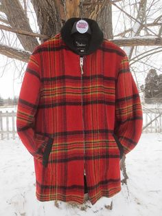 Vintage Red Plaid Wool Man's  SHANHOUSE by delilahsdeluxe on Etsy, $77.50