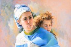 "Berber Mother & Child, 30"" x 40"""