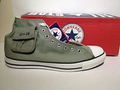 Converse-Chuck-Taylor-All-Star-Hi-High-Top-Sneakers-Shoes-Army-Olive-Green  In their second color (my fav)