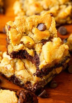 Ooey Gooey Brookies - The ultimate sweet treat. Combining chocolate chip cookies and brownies into one mouthwatering dessert.