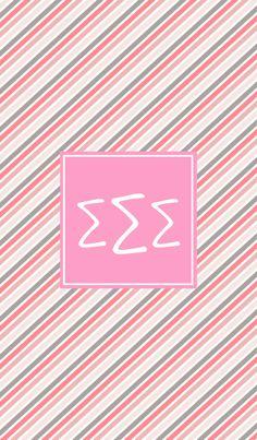 Sigma Sigma Sigma iPhone monogram background.