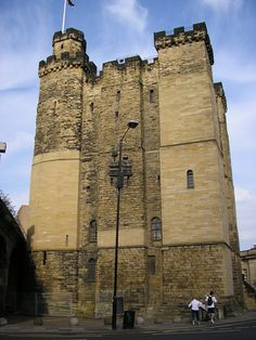 The Castle is a medieval fortification in Newcastle upon Tyne, England, which gave the City of Newcastle its name. The most prominent remaining structures on the site are the Castle Keep, the castle's main fortified stone tower, and the Black Gate, its fortified gatehouse.