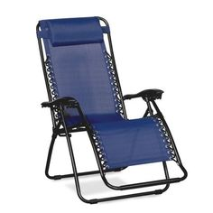 Caravan Canopies Blue Zero Gravity Chair