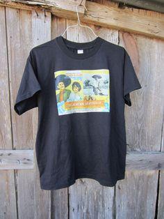 90's Mexican Movie Poster Iron-on T-Shirt, L-XL // El Alazán y El Rosillo // Vintage T-Shirt