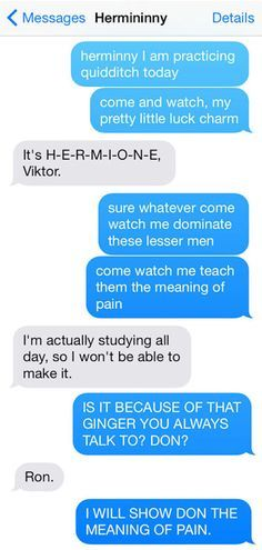 """This cracks me up. And then the second one from Ron is also fantastic 12 Texts From The """"Harry Potter"""" Universe"""