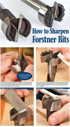 Sharpening Forstner Bits - Sharpening Tips, Jigs and Techniques | WoodArchivist.com