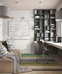 The whole environment helps in concentration so we can work well, so we have to feel good in our home office! Home office interior design trends ideas! Home Office Lighting, Home Office Space, Home Office Design, Home Office Furniture, Home Office Decor, House Design, Home Decor, Office Ideas, Office Designs