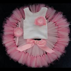 Baby Girls Birthday Tutu Dress 1st Birthday by StrawberrieRose
