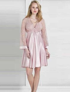 60834bdf40 Pierre Cardin 4200 Satin Nightgown Set will make you redefine comfort when you  wear this cozy