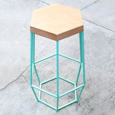 Timber & Ore Bar Stool Mint  by WoodSmithe