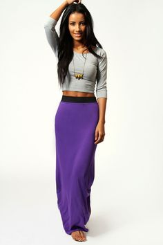 maxi skirt and crop top - Google Search | Things to Wear ...
