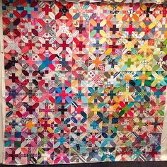 100 #xplusalong blocks with only five extra (turns out I can't count). Probably gonna keep tweaking the placement, but I'm moving on for now. #quiltretreat2014 | Flickr - Photo Sharing!