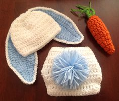 t Bunny Hat and Diaper Cover Carrot Set Floppy Eared Easter Bunny Hat Crochet Hat Baby Girl Baby Boy Bunny $37