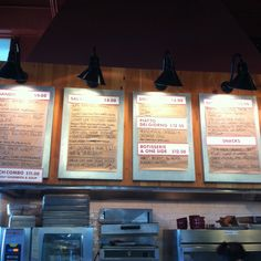 Love this idea of a metal menu board with magnets holding the kraft paper menus