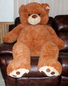 "Giant Teddy Bear Plush Stuffed Animal Brown 55"" Jumbo Huge at #eBay #Giant #Bear"