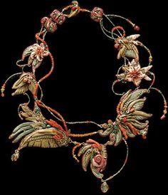 polymer art jewelry by ChristiFriesen  #cernit