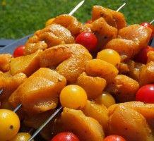 Brochettes de poulet épicées - Cuisi'Ness - Carnet de recettes d'une maman pressée !